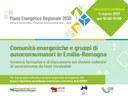 Comunità energetiche e gruppi di autoconsumatori in Emilia-Romagna